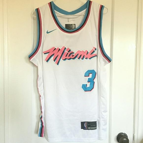 Dwyane Wade basketball jersey Miami HEAT  3 white 75ca6955b4d25